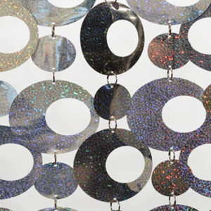 Holographic Disk Rental Curtains