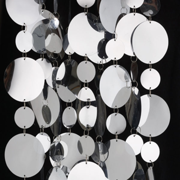Metallic Disk Rental Curtains
