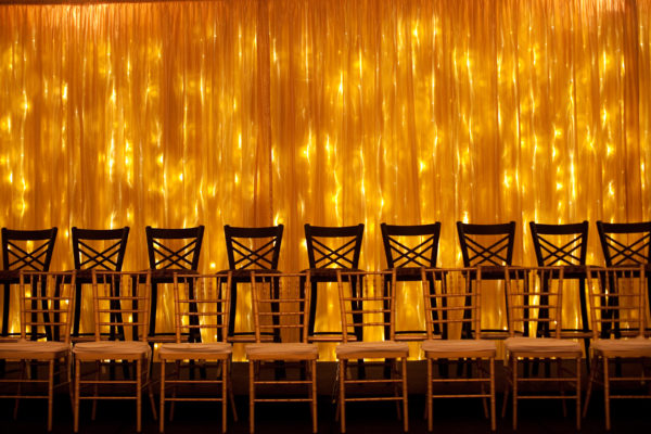 Rental Warm White LED String Curtain