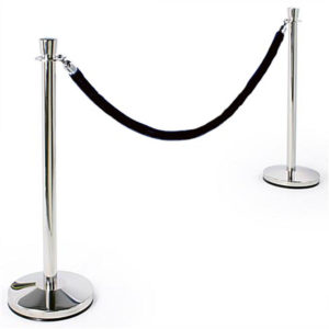 Rental Polished Chrome Stanchions